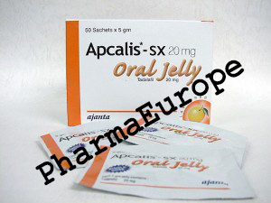 Apcalis (Tadalafil) 20mg / Oral Jelly / 50 Sachets x 5gm