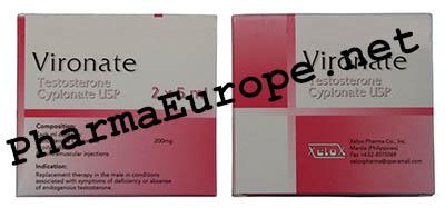 Vironate (Testosterone Cypionate USP) 5ml  Vial / 200mg/1ml