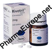 Rivotril CLONAZEPAM 2 mg, 100 tabs, Roche