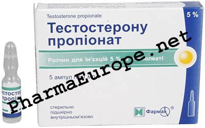 Testosterone Propionate, 50mg/ml , 1ml amp , Farmak, Ukraine