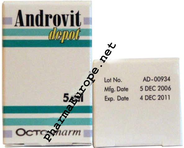 Androvit Depot (Testosterone Heptylate) 5ml  Vial / 250mg/1ml